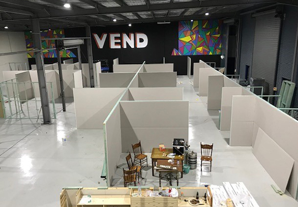 Vend warehouse being built up